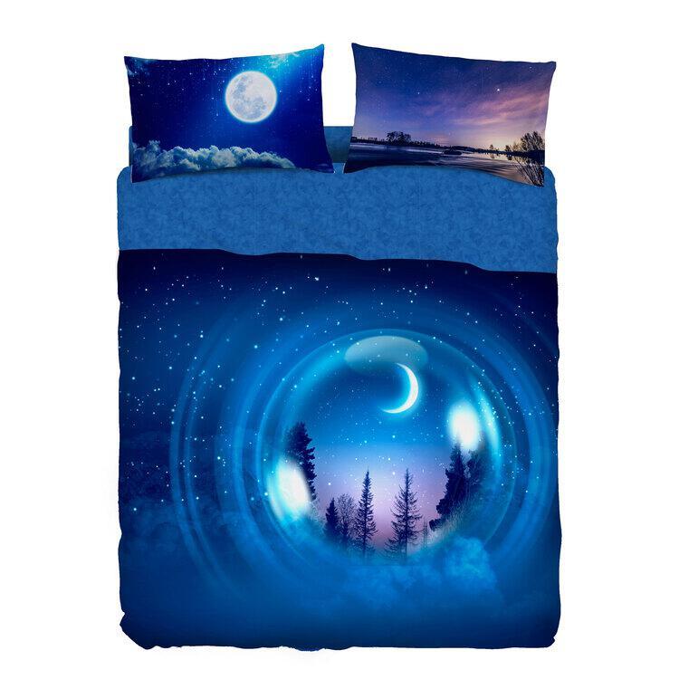 Completo Lenzuola Bubble Dream Blue Moon Bassetti